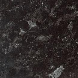 IT Kitchens Ebony granite Gloss Black Granite effect