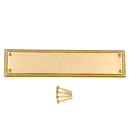 B&Q Brass Finger Plate (W)67mm