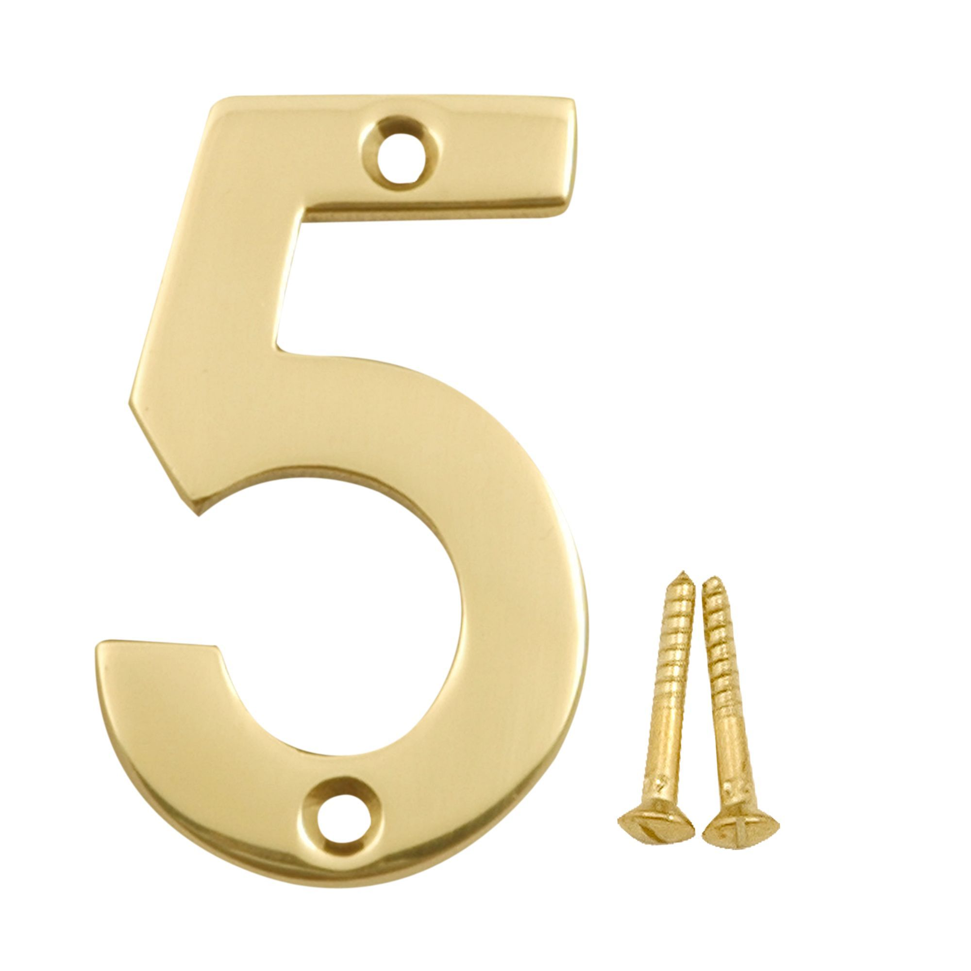 Brass House Number 5 | Departments | DIY at B&Q