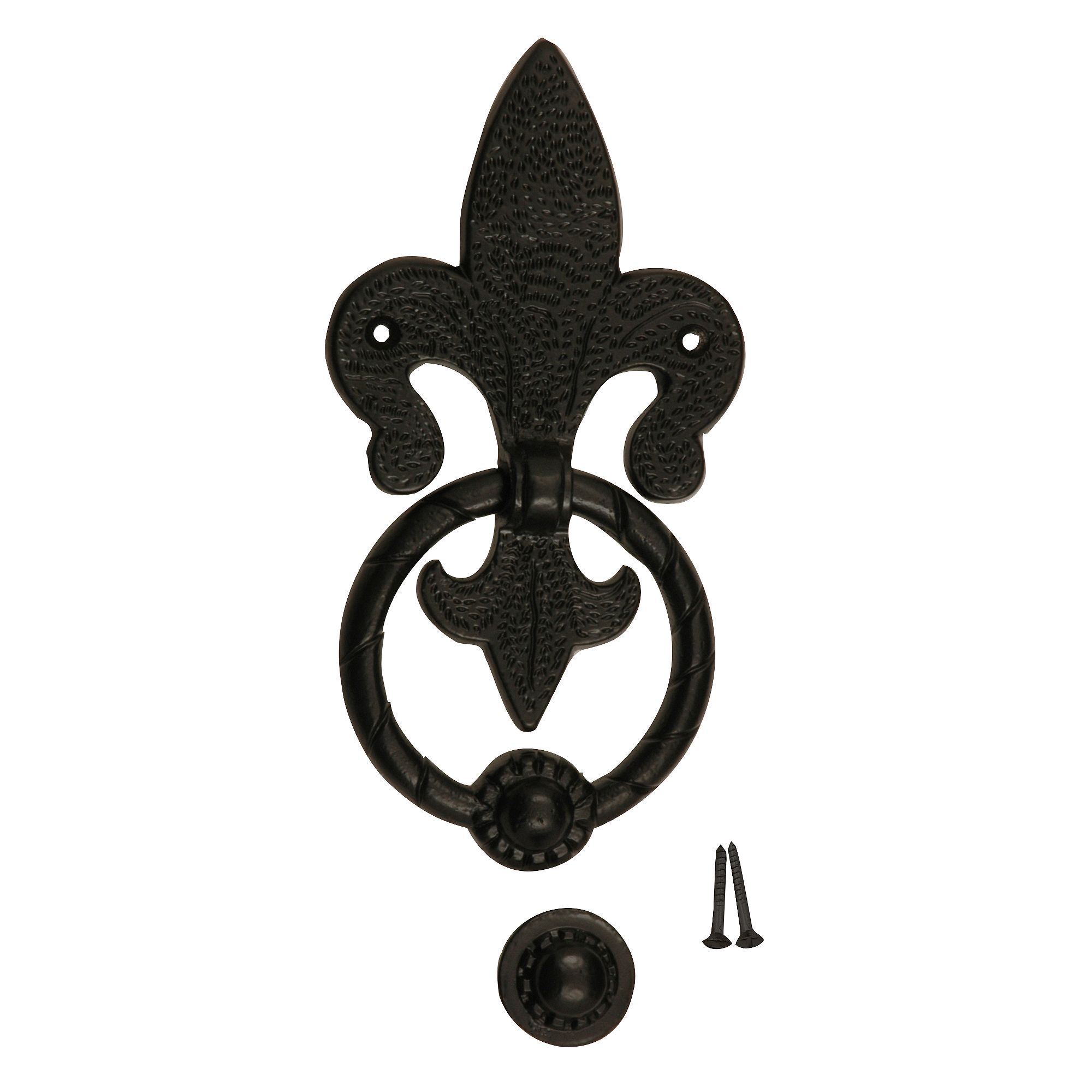 Fleur De Lys Aluminium Antique Effect Door Knocker | Departments | DIY At  Bu0026Q