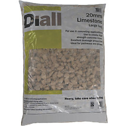 Diall 20 mm Limestone Large bag