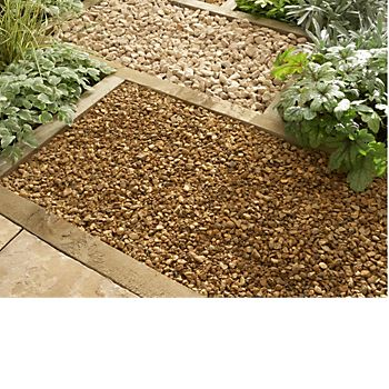 gravelled sections in garden