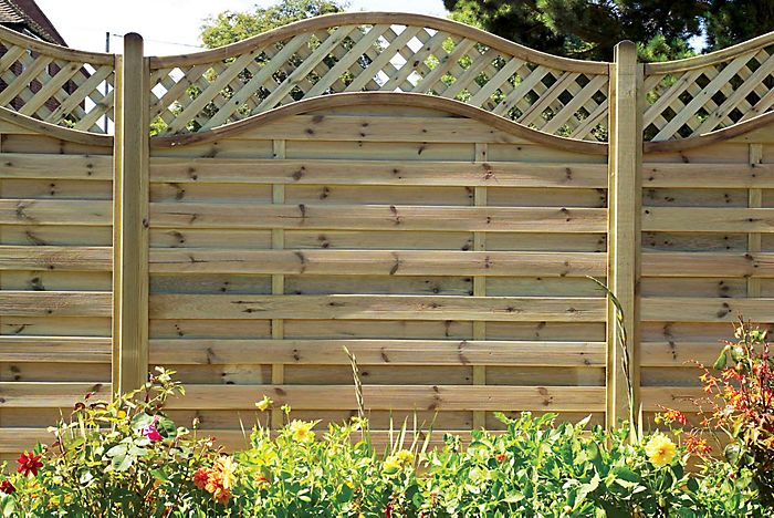Woodbury Premium Slatted Fence Panel