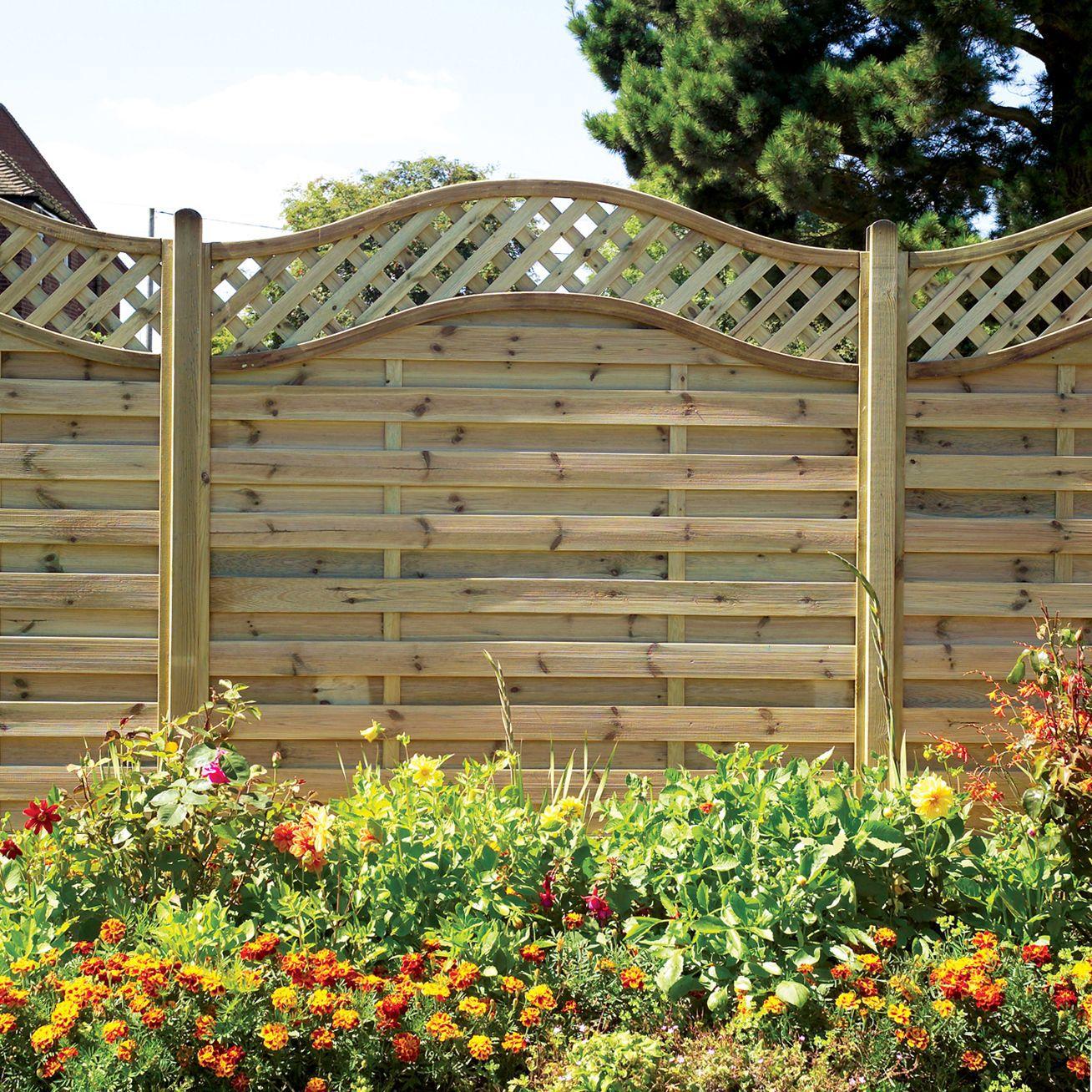 Amazing Woodbury Premium Slatted Fence Panel