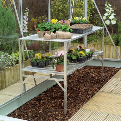 B&Q 2 Tier Greenhouse Staging