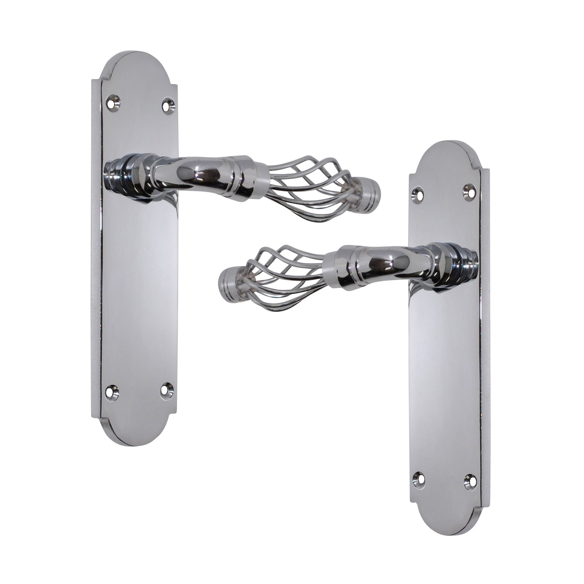 polished chrome effect internal straight latch door handle 1 set departments diy at b q
