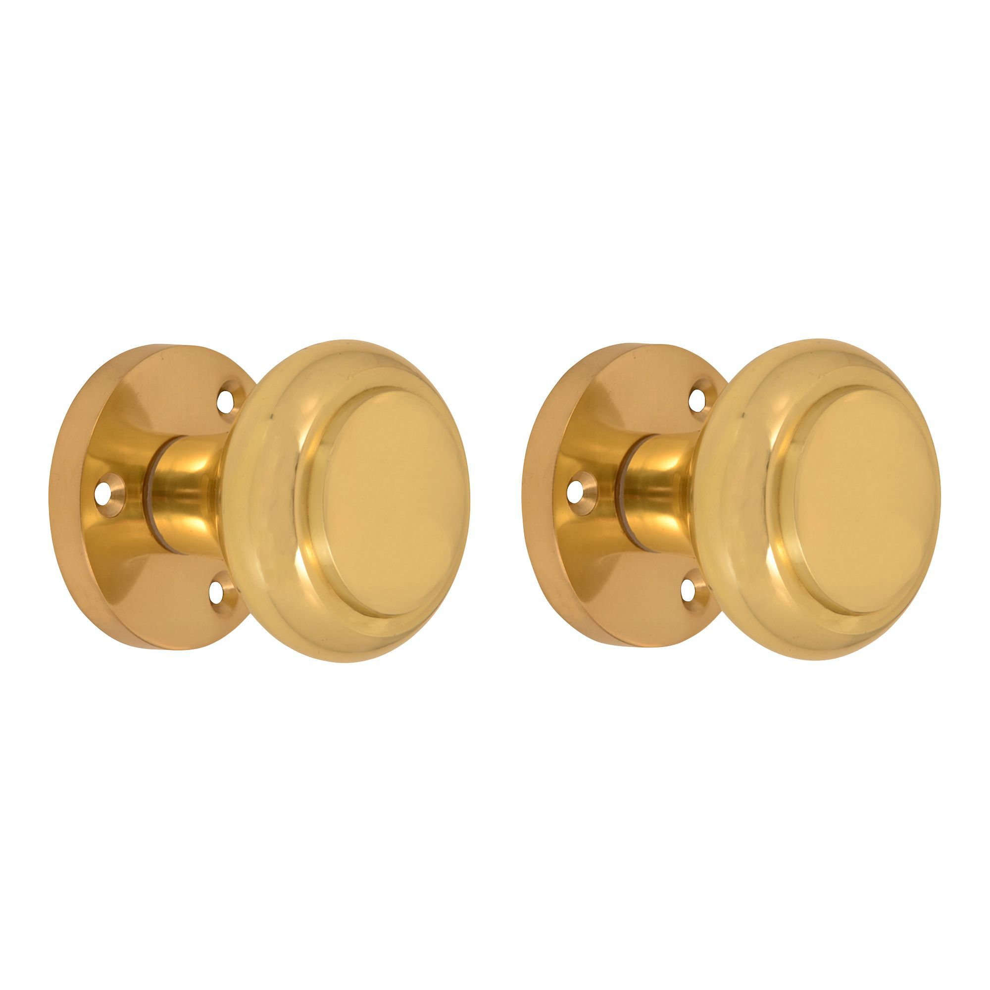 Polished Brass Effect Internal Round Latch Door Knob 1 Set