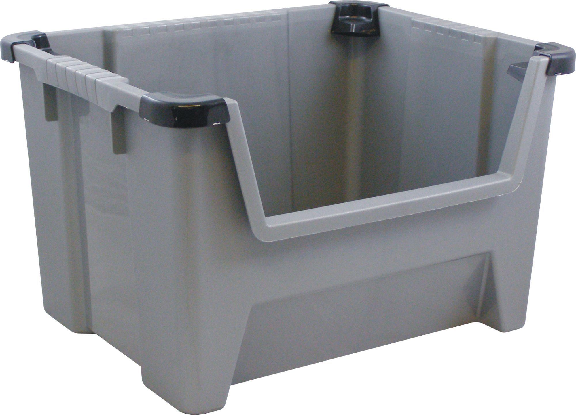 Keter Black 45l Plastic Curved Box Departments Diy At B Amp Q