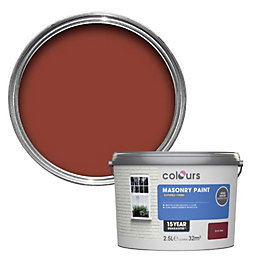 Colours Brick red Textured Masonry paint 2.5L