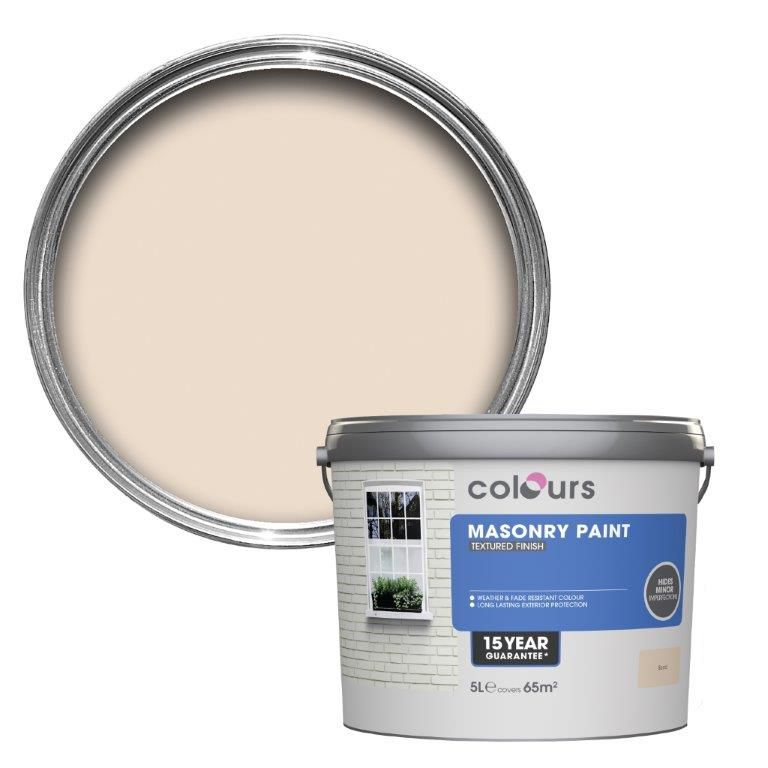 Colours Sand Textured Masonry paint 5L Departments DIY at BQ