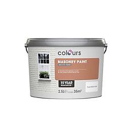 Colours Pure Brilliant White Matt Masonry Paint 2.5L