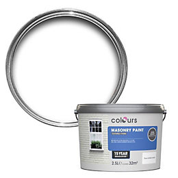 Colours Pure brilliant white Textured Masonry paint 2.5L