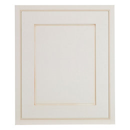 Cooke & Lewis Woburn Framed Ivory Fixed frame