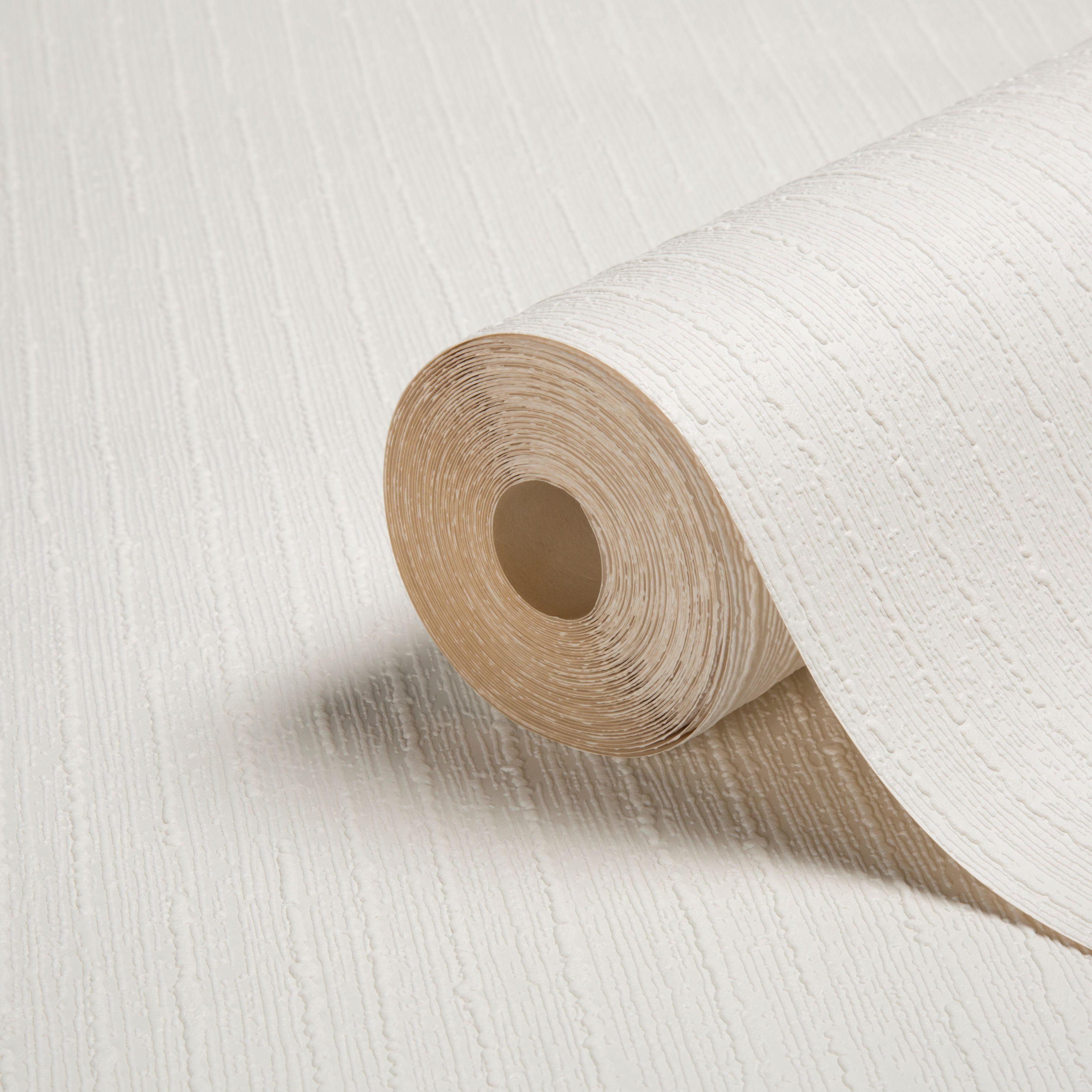 Colours White Stria Paintable Wallpaper Departments