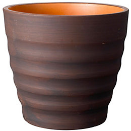 Circular Brown Plant pot (H)285mm (Dia)320mm