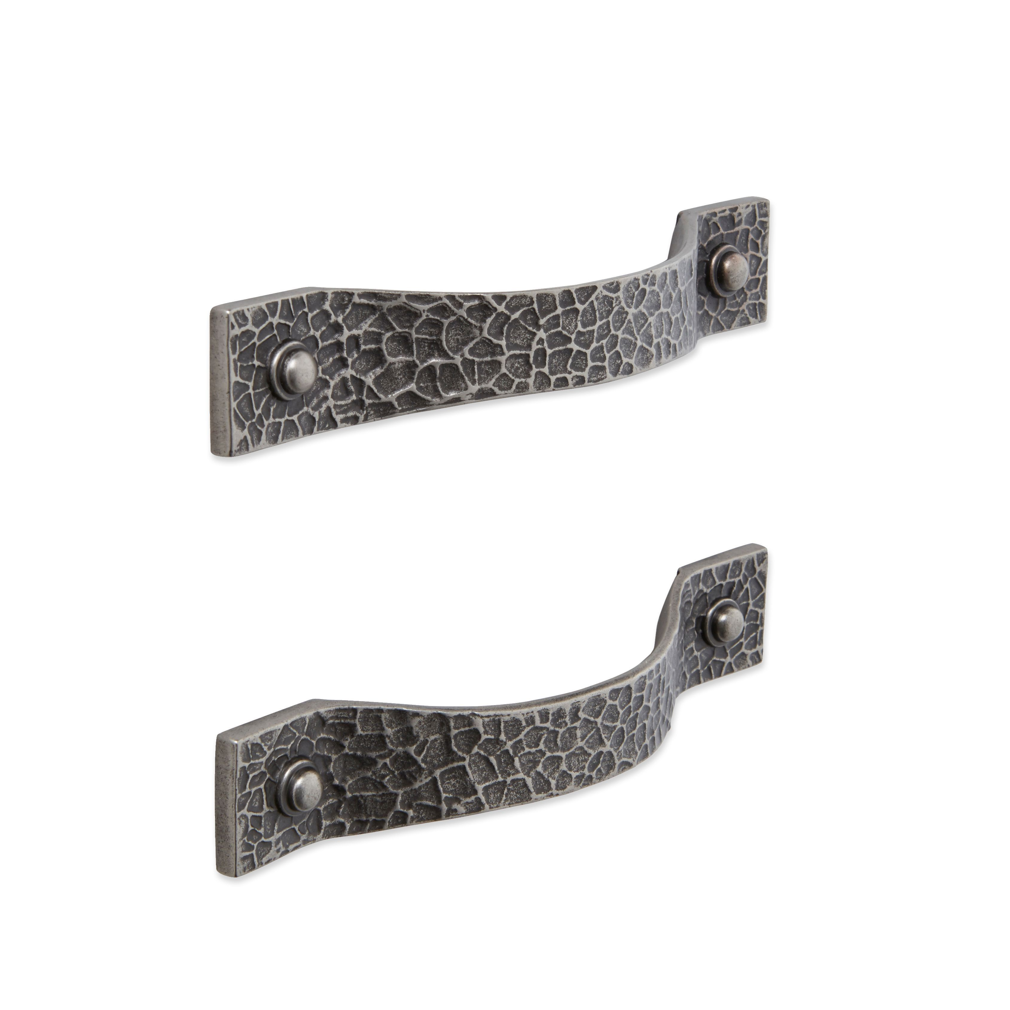 IT Kitchens Pewter Effect Curved Cabinet Handle, Pack of 2 ...