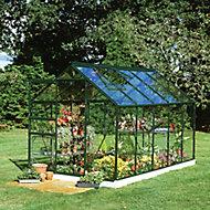 B&Q Metal 6x10 Horticultural glass greenhouse
