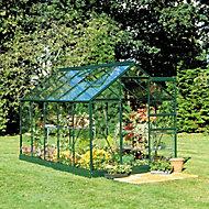 B&Q Metal 6x4 Toughened safety glass greenhouse