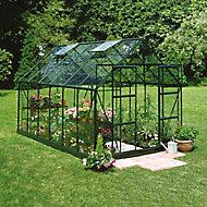 B&Q Metal 8x10 Horticultural glass greenhouse
