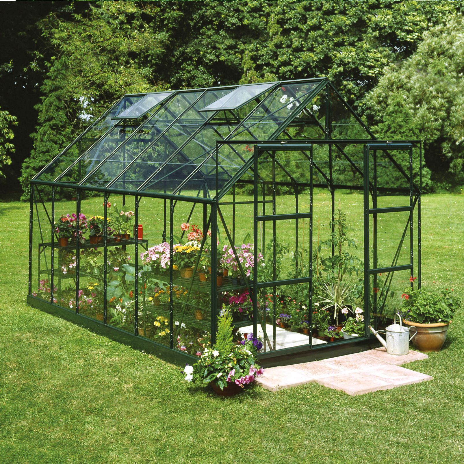 B&Q Metal 8x14 Horticultural glass greenhouse