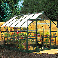 B&Q Metal 8x10 Toughened safety glass greenhouse