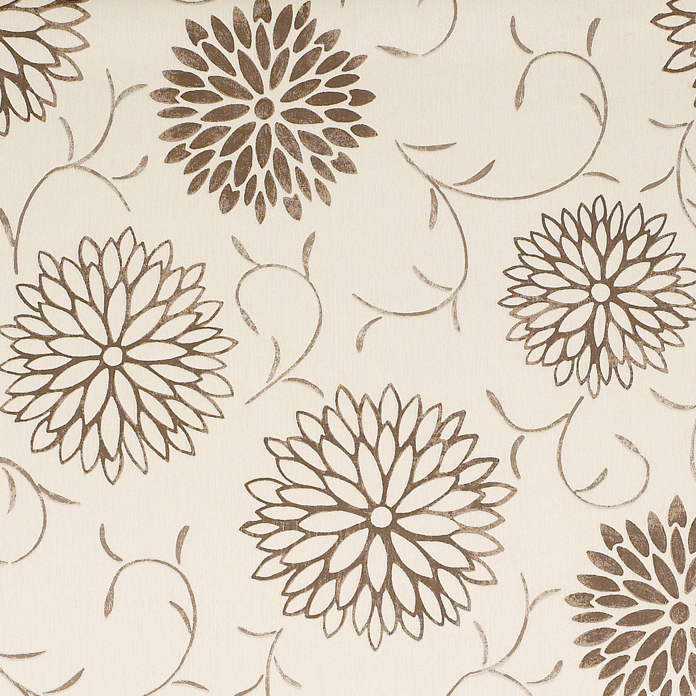 Colours Romantic Beige Brown Floral Wallpaper