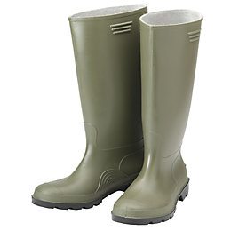 B&Q Green Wellington Boots, Size 5