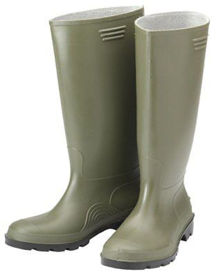 B Amp Q Green Wellington Boots Size 9 Departments Diy At B Amp Q