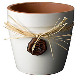 Cream Plant Pot (H)14cm (Dia)15cm