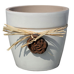 Cream Plant Pot (H)19cm (Dia)20cm