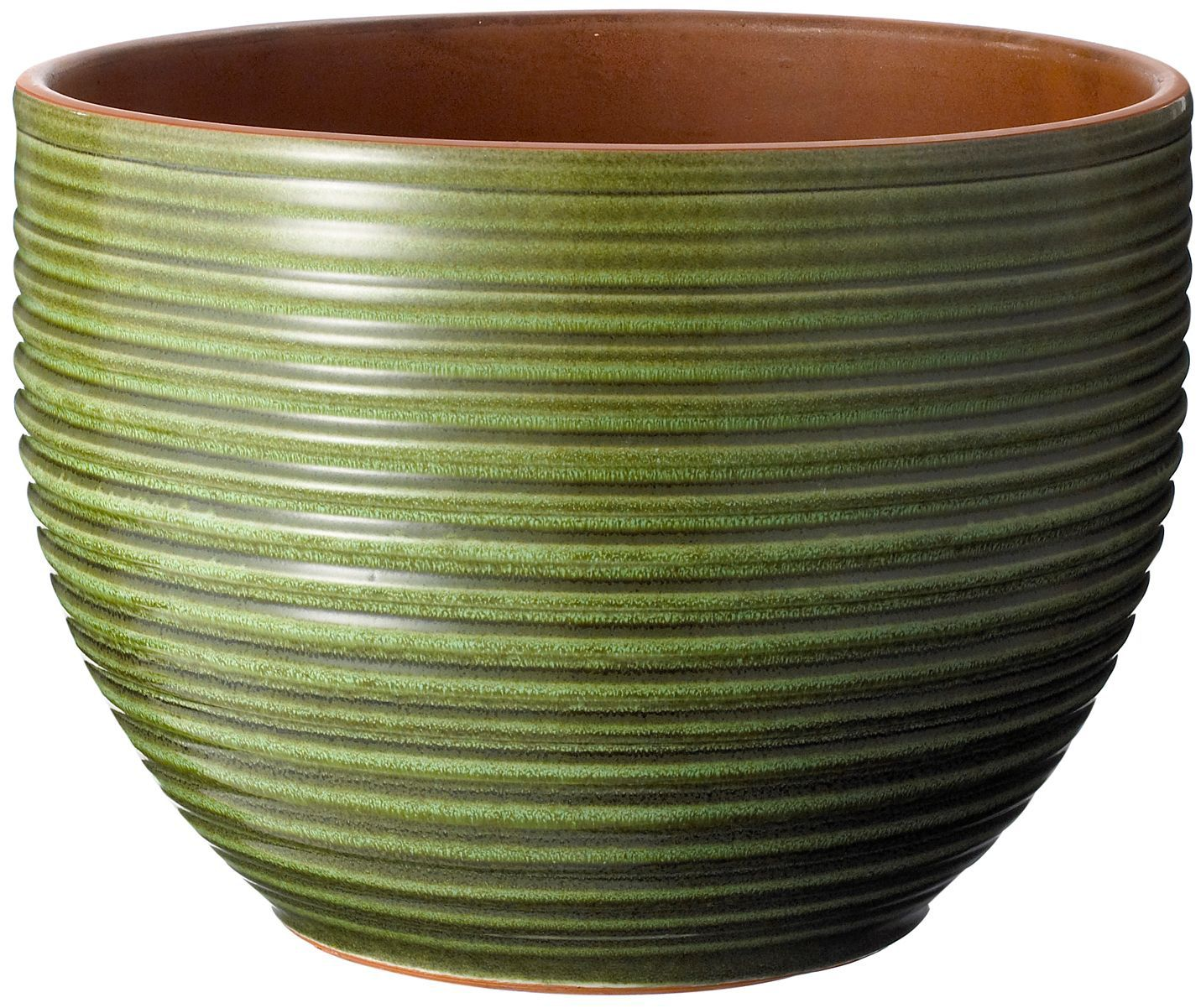 Circular Glazed Green Plant Pot H 225mm Dia 300mm