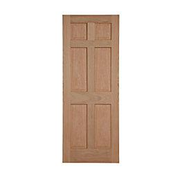 6 Panel Oak veneer Internal Standard Door, (H)1981mm