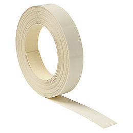 IT Kitchens Gloss Cream Laminate Edging Tape (L)10000mm