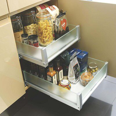 Cooke lewis single drawer storage system departments for Kitchen cabinets 500mm