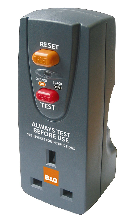 B&Q Black 1-Gang 240V 13A RCD Adaptor | Departments | DIY at B&Q on plug in voltage regulator, plug in tire, plug in third brake light, plug in backup light, plug in power box, plug in cover box, plug in ignition switch, plug in speaker,