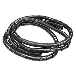 B&Q Black Plastic Spiral Cable Tidy