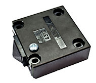 B&Q Black Door Operated Cabinet Switch