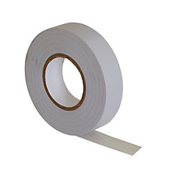 B&Q White Insulation tape (L)33m (W)19mm