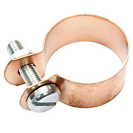 B&Q Copper Earth Connecting Clip, Pack of 10