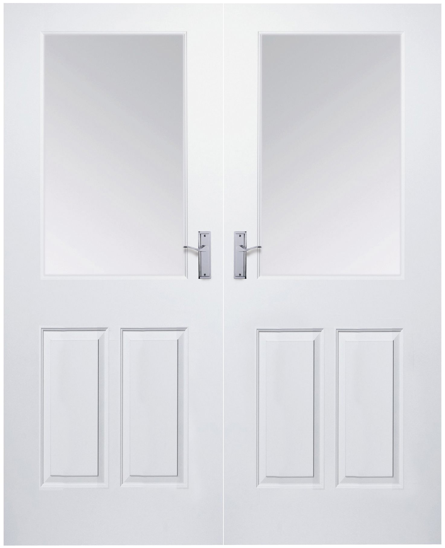 Broadland 2 Lite Obscure Partially Glazed Moulded Internal French French Door (H)1981mm (W)1168mm | Departments | DIY at B\u0026Q  sc 1 st  B\u0026Q & Broadland 2 Lite Obscure Partially Glazed Moulded Internal French ...