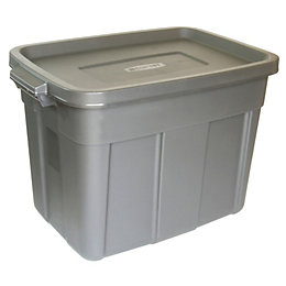 B&Q Grey 57L Plastic Storage box