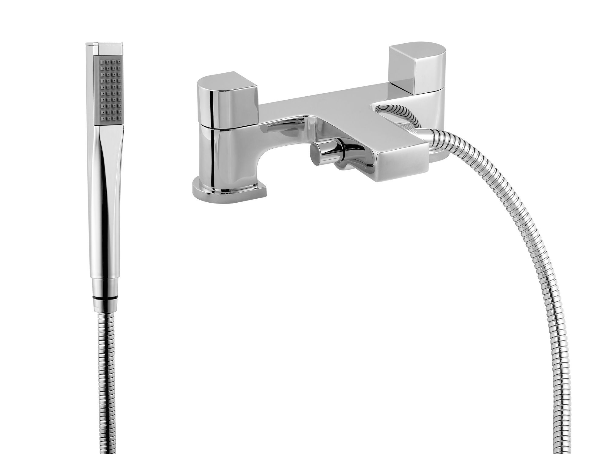 B&Q Mode Chrome Bath Shower Mixer Tap | Departments | DIY ...