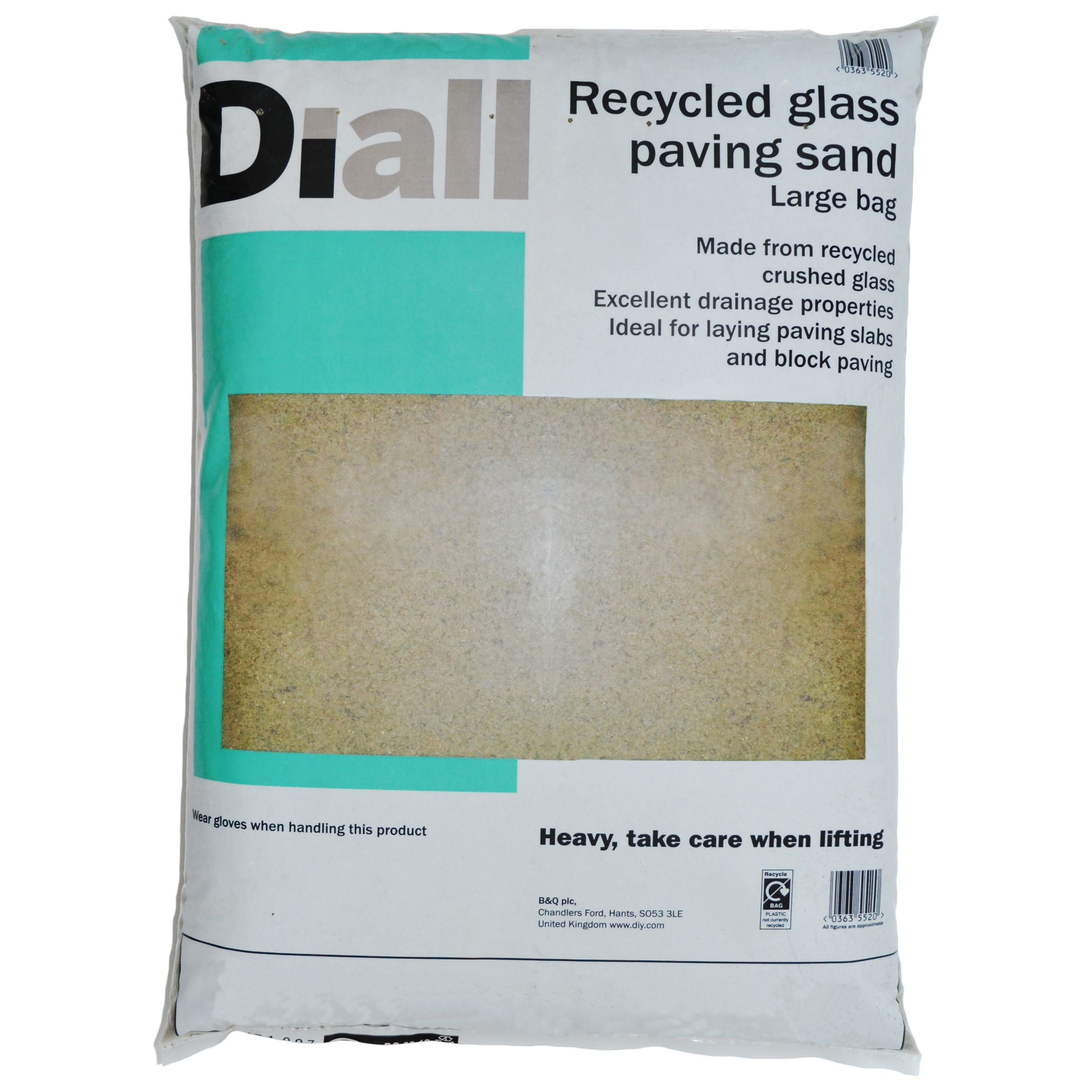 diall recycled glass paving sand 22 5kg large bag departments