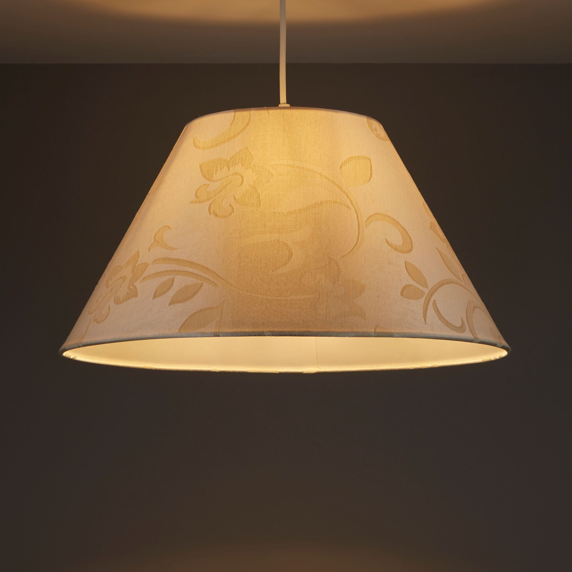 Colours Belgravia Cream Damask Jacquard Light Shade (D)450mm