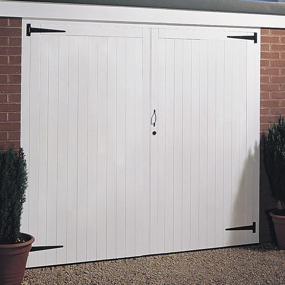 Side Hung Garage Door Pair H1981mm W2134mm Departments Diy