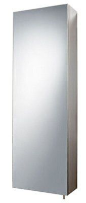 Bu0026Q Fonteno Single Door Silver Tall Mirror Cabinet | Departments | DIY At  Bu0026Q