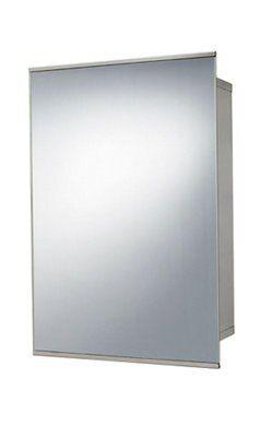 B Amp Q Fonteno Sliding Door Silver Mirror Cabinet