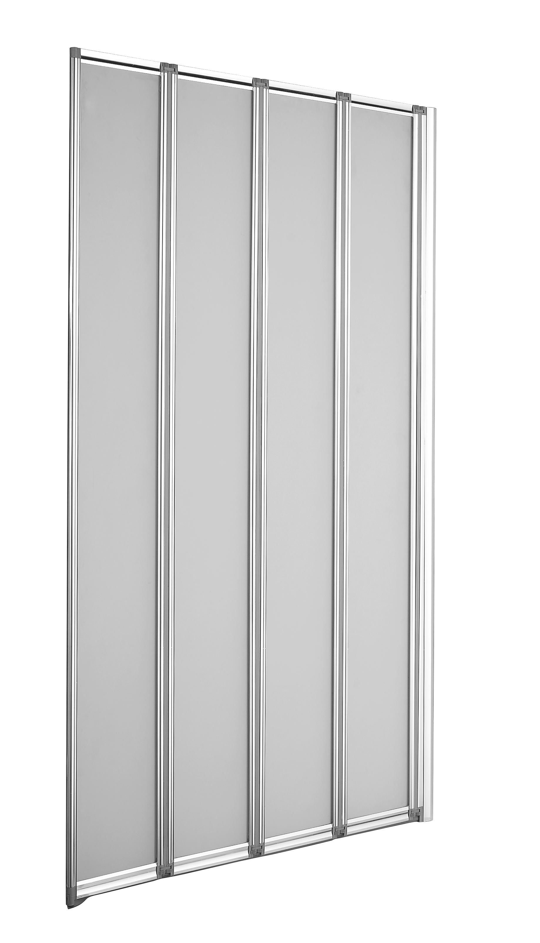 Nile Straight 4 Panel Folding Bath Screen W 840mm
