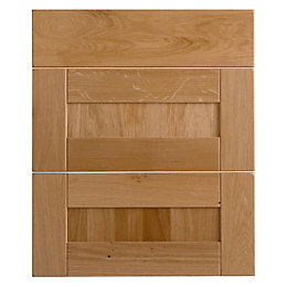 Cooke & Lewis Chesterton Solid Oak Drawer Front