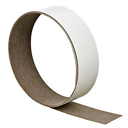 B&Q Matt White Worktop Edging Tape (L)3M